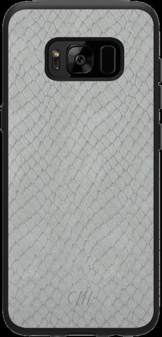 Galaxy S8+ Vegan Leather Crocodile Case - Suede Gray