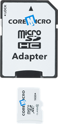 Core Micro CoreMicro SD Card w/ SD Adapter