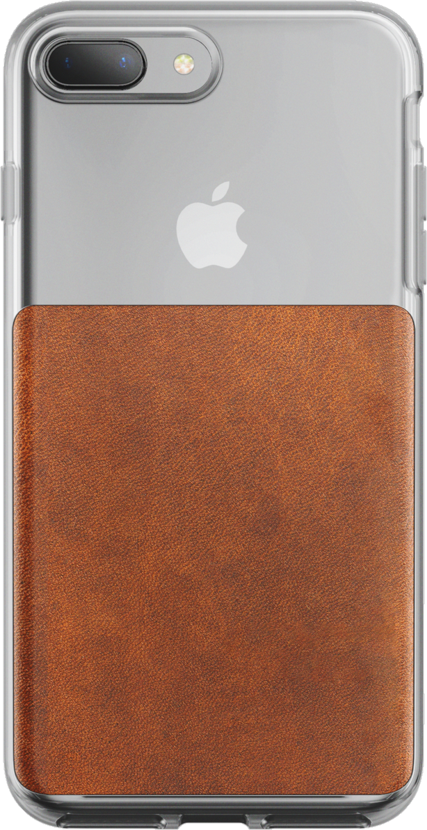 iPhone 8/7/6s/6 Plus Leather Clear Case - Rustic Brown