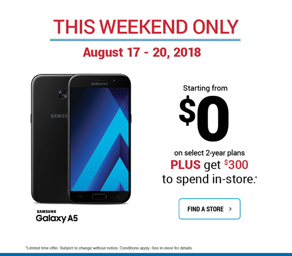 Samsung A5 - Starting from $0