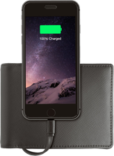 Nomad Wallet with 2400mAh Lightning Portable Battery