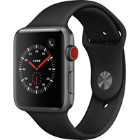 APPLE WATCH S3 BLACK STAINLESS STELL/BLACK SPORT BAND 42MM