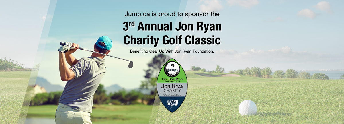 Jump.ca is proud to support the 3rd Annual Jon Ryan Charity Golf Classic