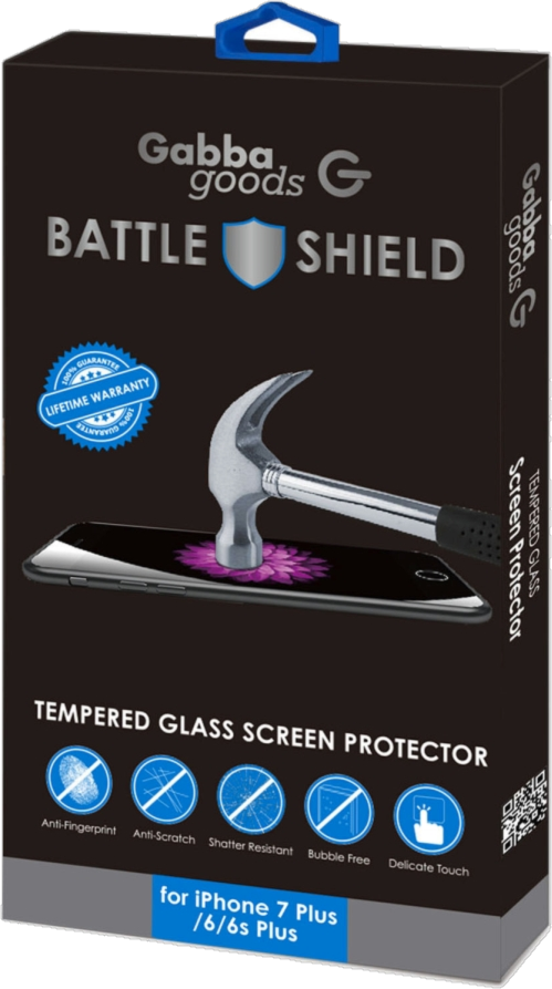 iPhone 7 Plus Tempered Glass Gabba Goods Screen Protector - Clear