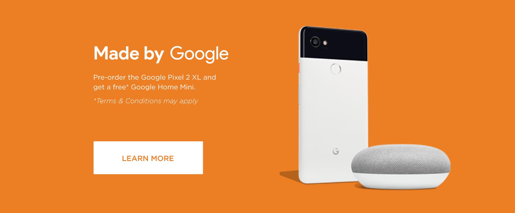 Pixel 2 with free Google Home Mini