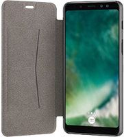 XQISIT Galaxy A8 (2018) Xqisit Adour Flap Cover Case