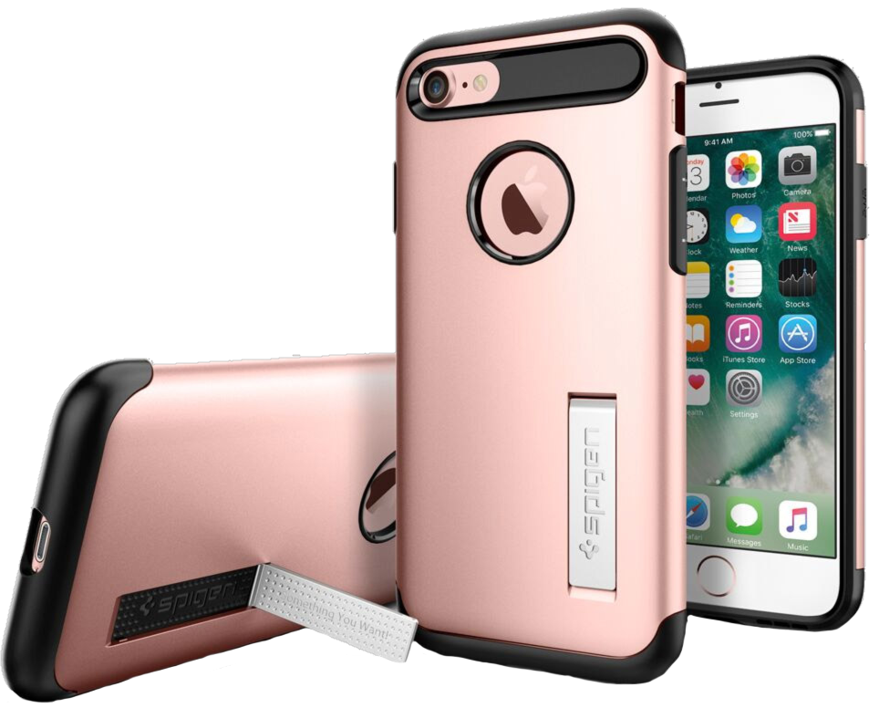 iPhone 8/7 Slim Armor Case with Kickstand