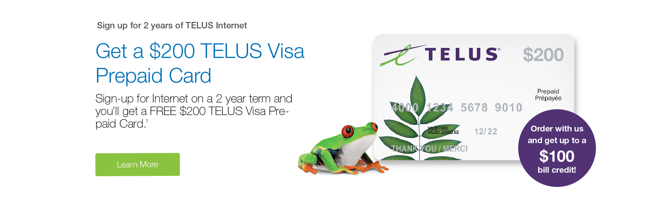 Sign up for 2 years and get a FREE $300 VISA gift card