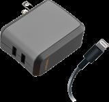 Ventev Dual 2.4A Lightning Wallport Charger