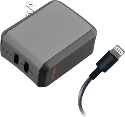 Ventev Dual 2.4A Lightning Wallport Charger