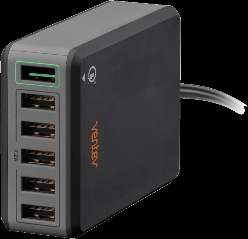 USB charginghub rq600 - Black