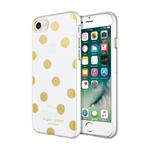 iPhone 7+ Sugar Paper Dot Case - Gold/White