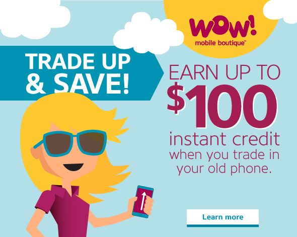 Earn up to $100 instant credit when you trade in your old phone