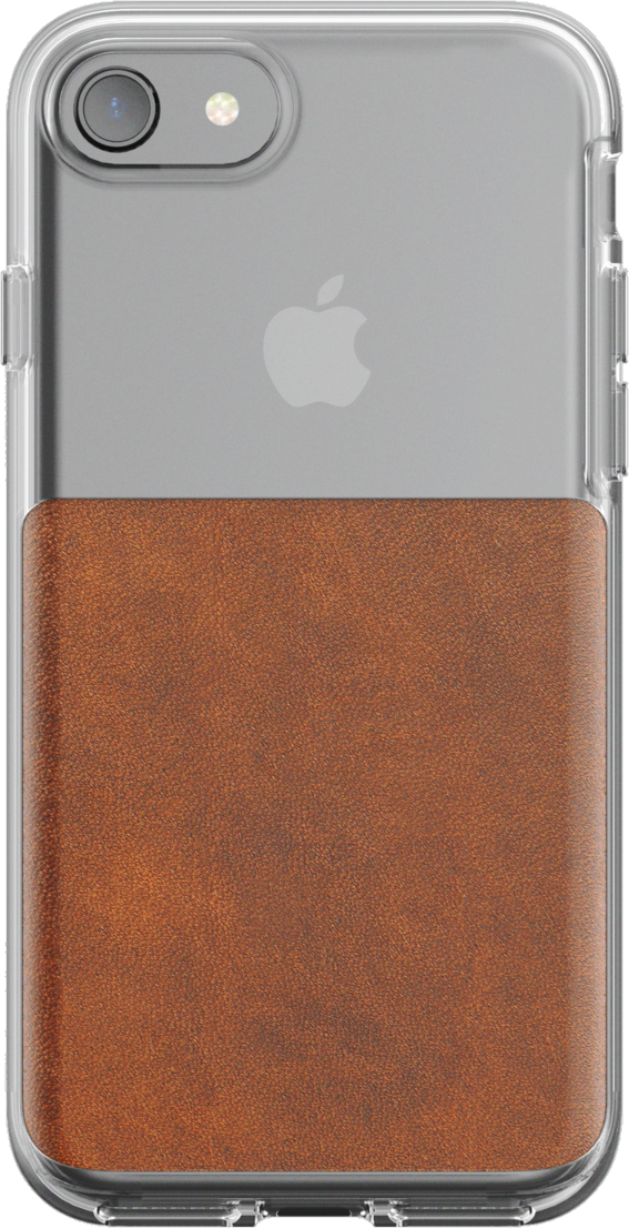 iPhone 8/7 Leather Clear Case - Brown