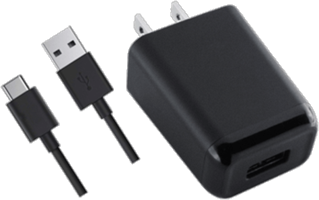 KEY 2.4A Wall Charger with USB 2.0 to USB-C Cable