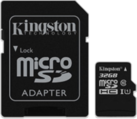 Kingston 32GB UHS-I Class 10 3microSDHC Canvas Select Flash Card