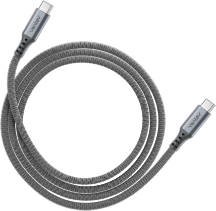 Ventev Alloy USB Type-C Charge/Sync Cable - 4ft Steel