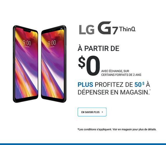 LG G7 ThinQ Profitez de 50$ à dépenser en magasin