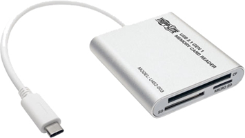 Tripp Lite USB 3.1 USB-C Multi-Drive-Memory Media Reader/Writer