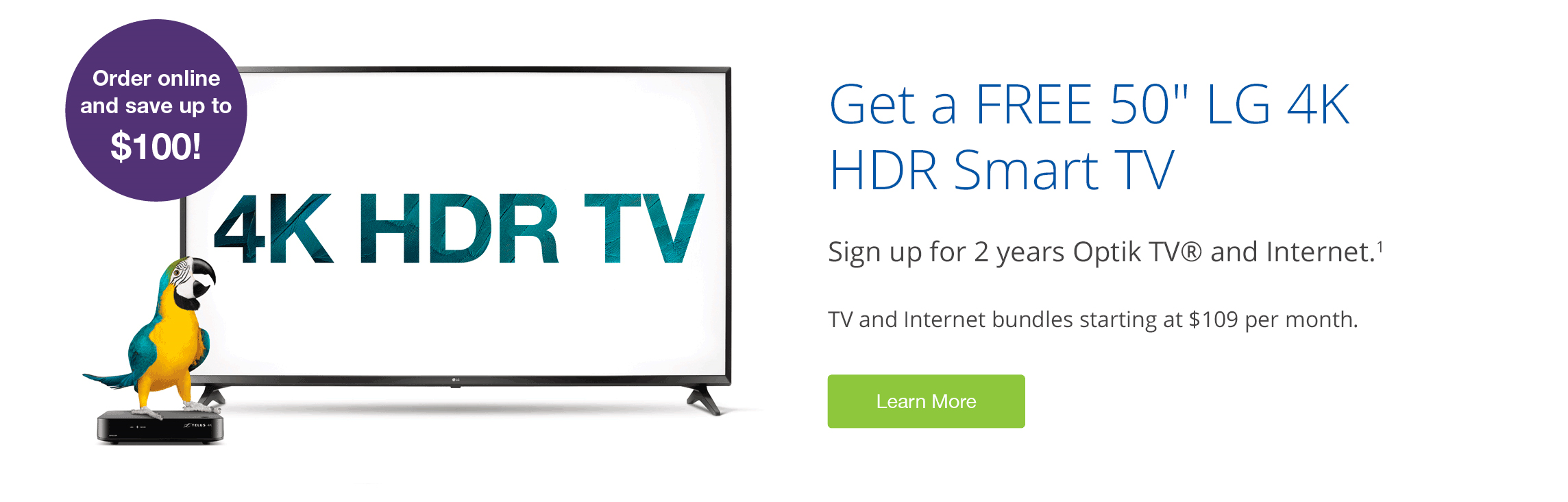 """Free 50"""" LG 4K HDR"""