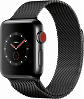 APPLE WATCH S3 SPACE BLACK STAINLESS STELL/SPACE BLACK MILANESE LOOP 38MM