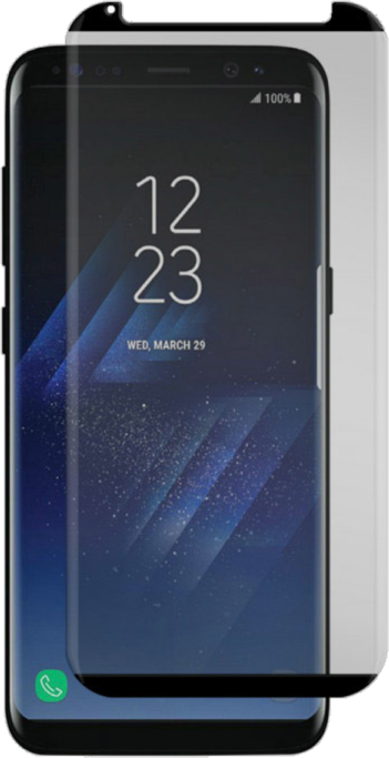 Galaxy S8 Black Ice Cornice 2.0 Full Adhesive Curved Tempered Glass Screen Guard