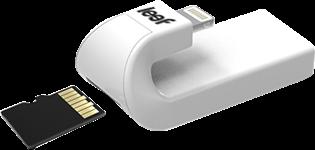 Leef Lightning MicroSD Card Reader - White