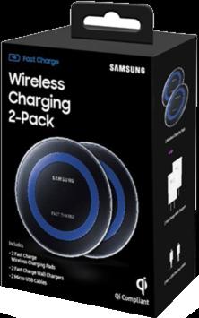 Samsung OEM Qi 2-Pack Fast Charge Pad - Black/Blue