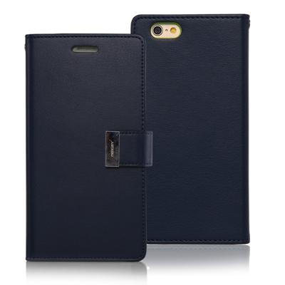 Goospery iPhone 6S Rich Wallet - Navy Blue