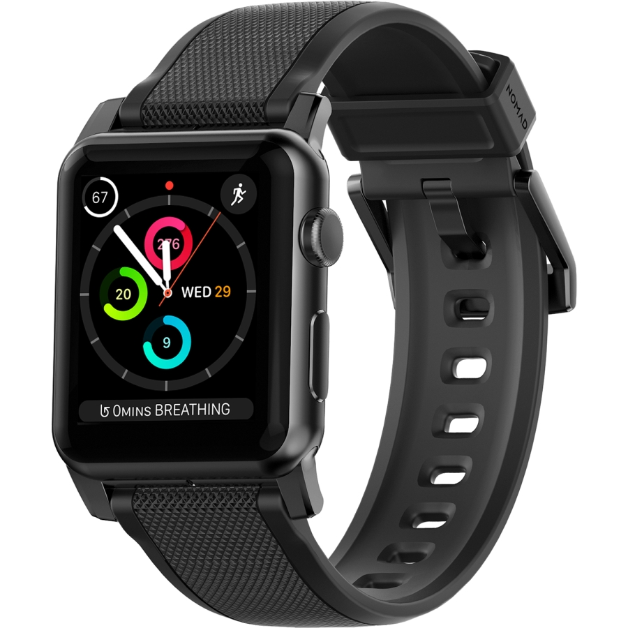Apple Watch 42mm Silicone Band - Black