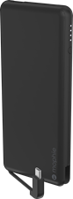 Mophie 6000 mAh Powerstation Plus Mini External Battery with Integrated USB-C Cable and Additional USB-A Port