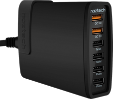 Naztech Turbo 6 USB 11A Wall Charger