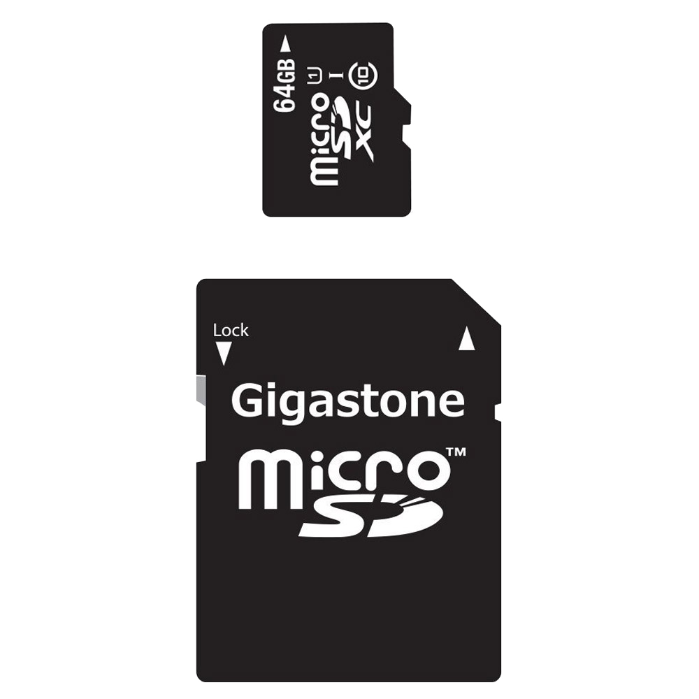 64GB 2-in-1 Prime Series MicroSDHC Memory Card