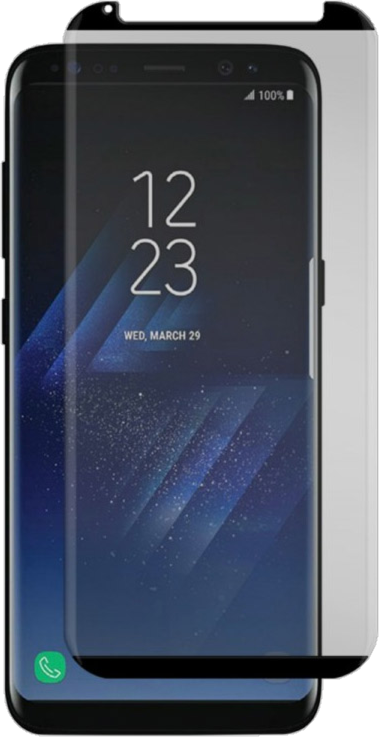 Galaxy S8+ Black Ice Cornice Curved Edition Tempered Glass Screen Guard - Clear