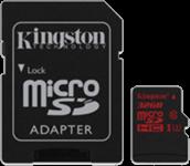 Kingston UHS-I Class 3 microSDHC Flash Card