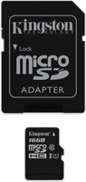 Kingston microSDHC Class 10 Secure Digital Card w/ SD Adapter