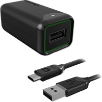 Qmadix USB Type-C Wall Quick Charge 3.0 with 6ft Coil Cable