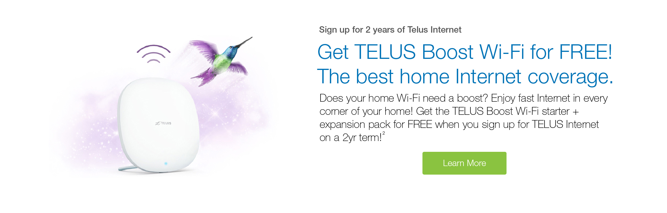 Sign Up for 2 Years of Telus Internet and Get Free TELUS Boost Wifi