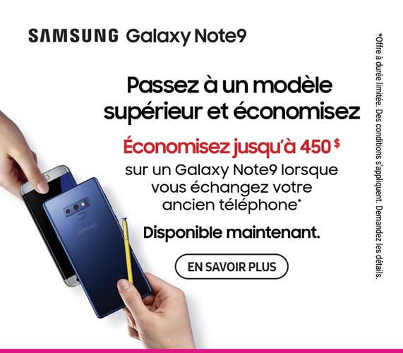 Samsung Galaxy Note9 échanger