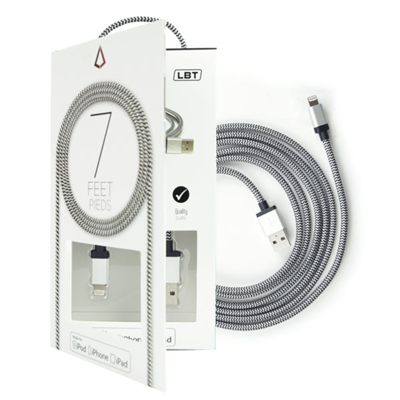 LBT Braided Lightning Cable 7ft