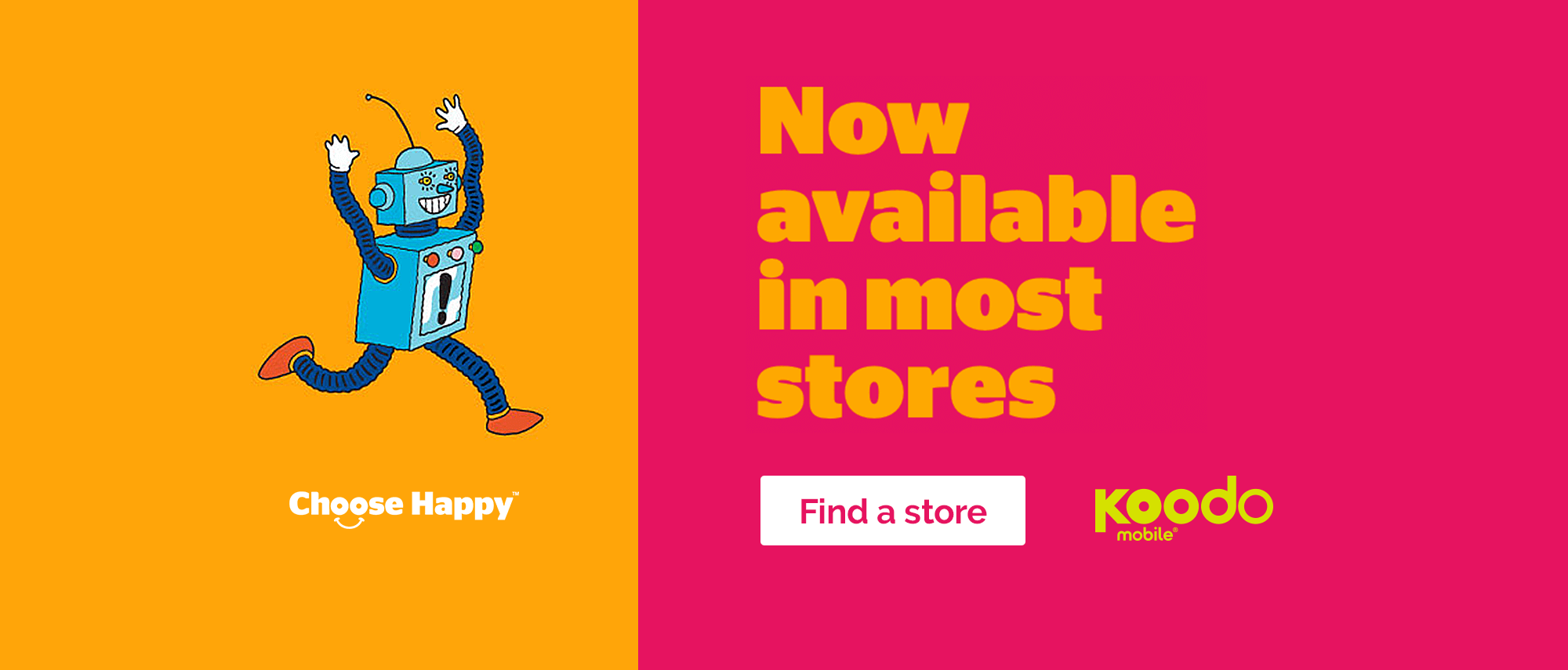 Koodo Mobile Now Available in Most Stores