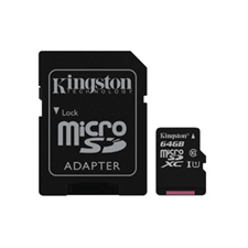 Kingston UHS-I Class 10 64GB Micro SDHC Canvas Select Flash Card