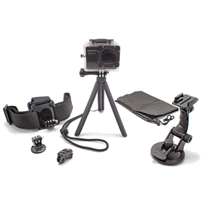 Optex 6-in-1 Action Camera Accessory Kit