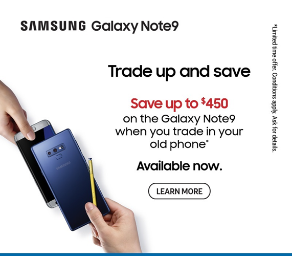 Samsung Galaxy Note9 Trade up