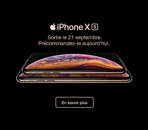 iPhone Xs Précommandez-le aujourd'hui