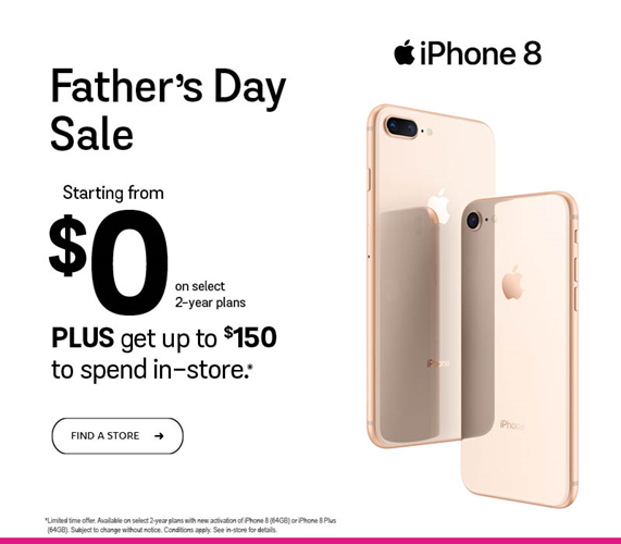 iPhone 8 - Get up to $150 to spend in-store