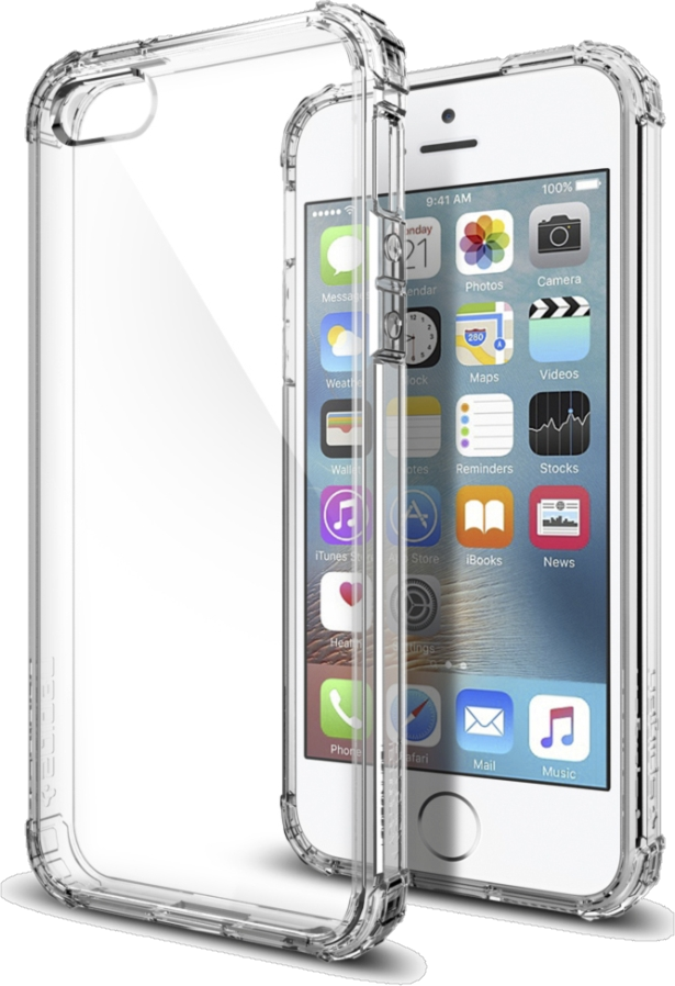 iPhone 5/5s/SE Crystal Shell Case - Crystal Clear