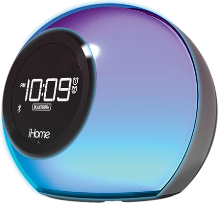 iHome Colour Changing Bluetooth Dual Alarm Clock Radio