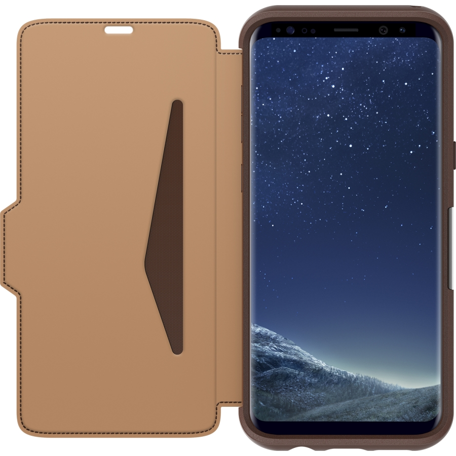 on sale 80f82 210c5 OtterBox Galaxy S8+ Strada Leather Folio Case Price and Features