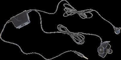 Milicom In-Ear Mic PTT Headset (2 Wire)